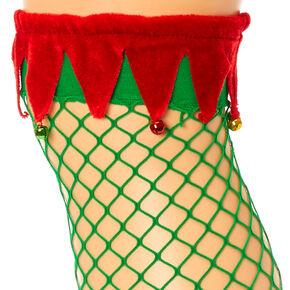 Elf Fishnet Over The Knee Socks,
