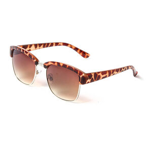 Molly Tortoise Shell and Gold Metal Sunglasses,