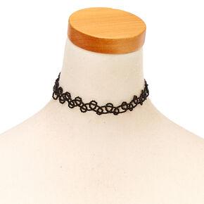 Black Seed Bead Choker Necklace,