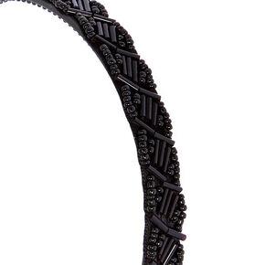 Black Beaded Headband,