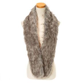 Gray Faux Fur Stole,