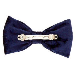 Navy Velvet Bow Hair Clip,