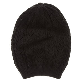 Black Double Layer Beanie,