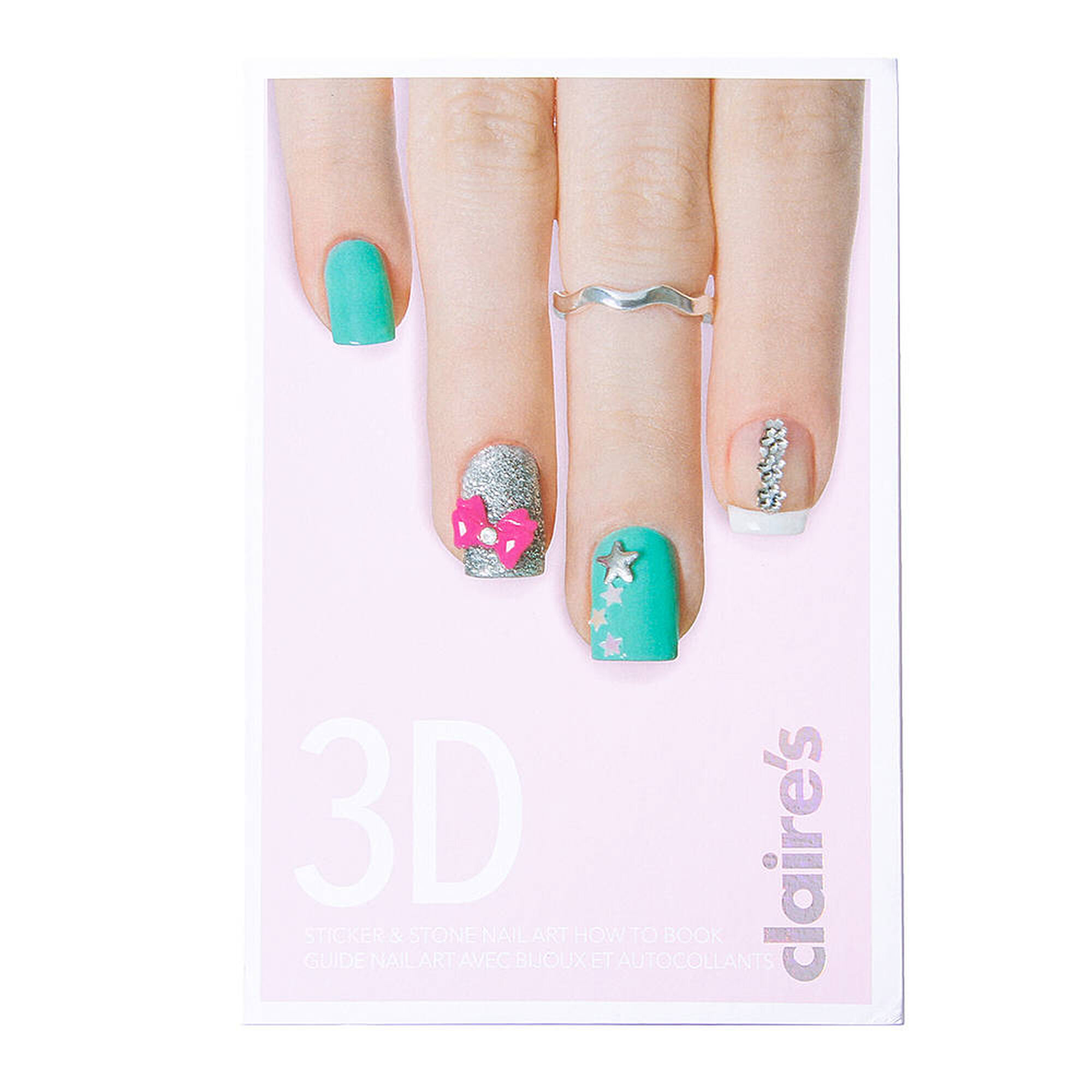 Nail art tools supplies claires us 3d stickers stone art set book prinsesfo Choice Image