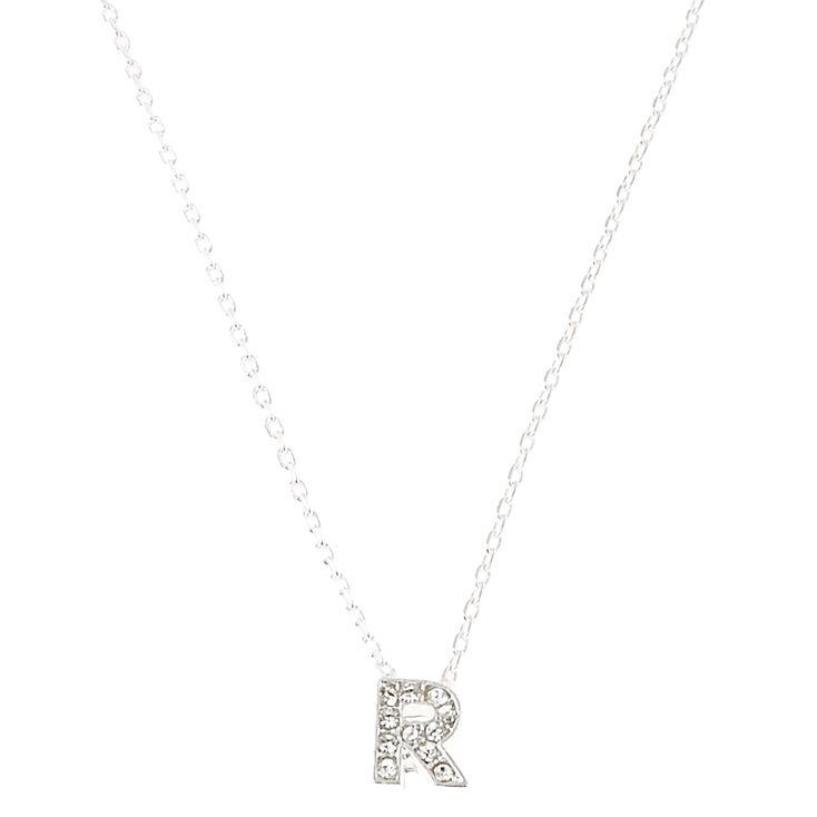 R Pendant Initial Necklace,