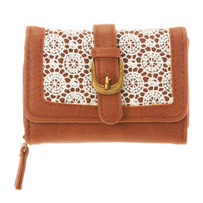 Brown Crochet Mini Wallet,