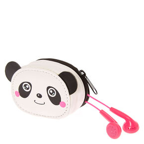 Panda Earbuds & Zip case Set,