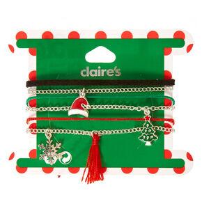 Mixed Christmas Charm Bracelets,