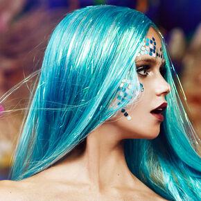 Mermaid Scale Face Tattoos,