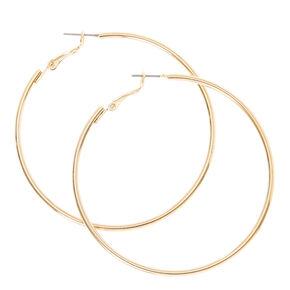 60MM Smooth Gold Hoop Earrings,