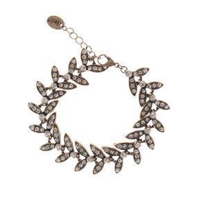 Dark Antique Style Gold Leaf Chain Bracelet,