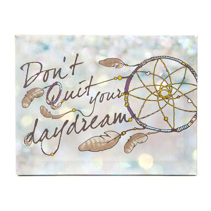 Don't Quit Your Daydream Wall Canvas,