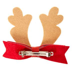 Reindeer Antlers Hair Bow Clip,