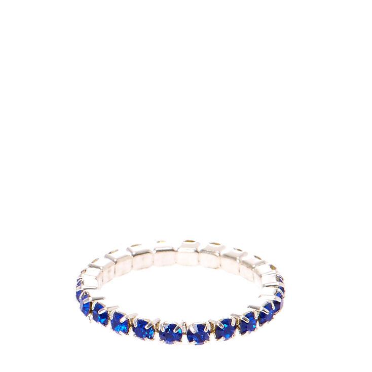 Blue Stretch Toe Ring,
