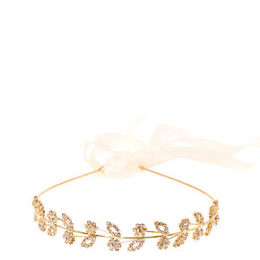 Gold Tone Petunia Crystal Halo,