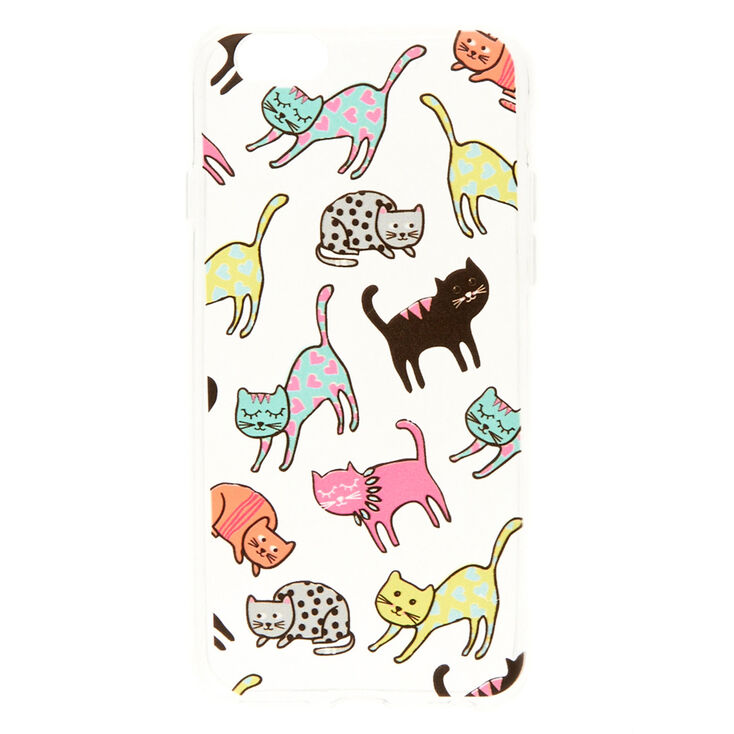 Clear Colorful Cats Phone Case,