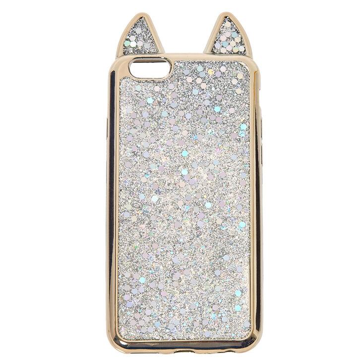 Metallic Silver Cat Phone Case Claire S Ca