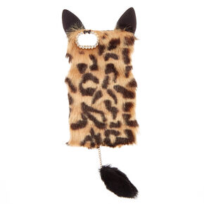 Faux Fur Leopard Phone Case,