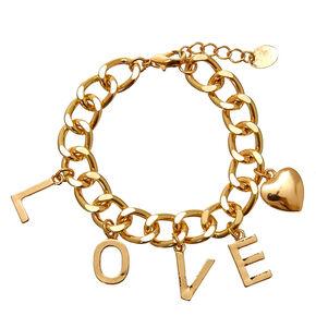 Gold-Tone LOVE Charm Bracelet,