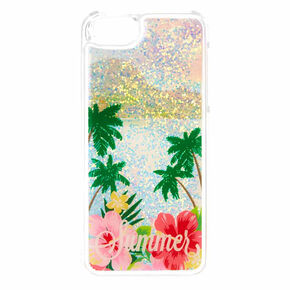 Beach Summer Liquid Filled Phone Case,