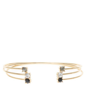 Gold Stone Arm Cuff Bracelets,