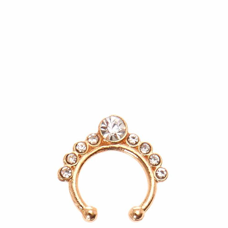 Rose Gold Faux Septum Earring,