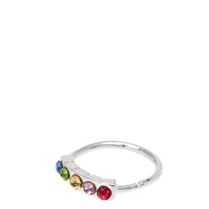 Stainless Steel Rainbow Hoop Nose Ring,