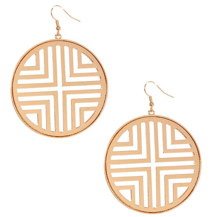 Geometric Circle Drop Earrings,
