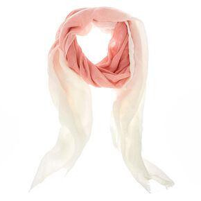 Blush and White Ombre Knit Scarf,