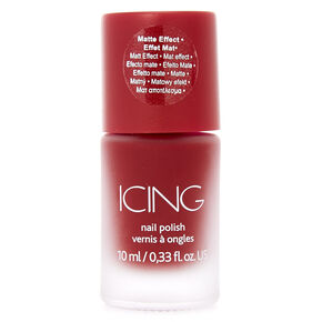 Dark Red Matte Nail Polish,