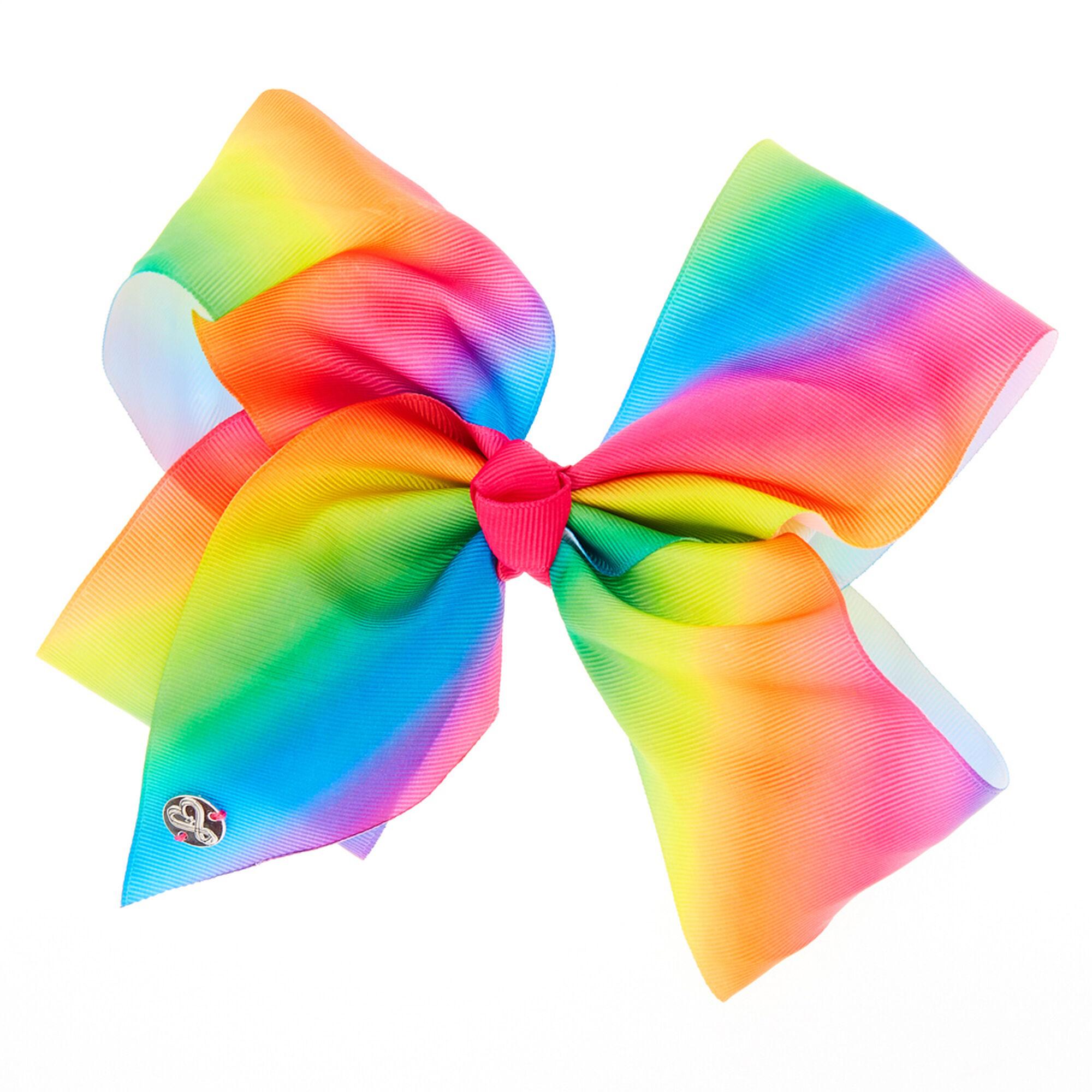 Jojo Siwa Large Rainbow Signature Hair Bow Claire S Us