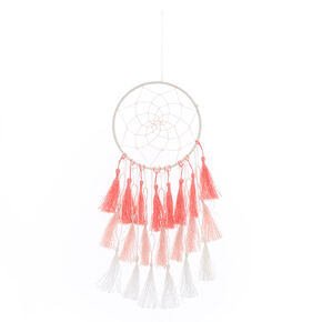 Pink and White Tassle Dreamcatcher,