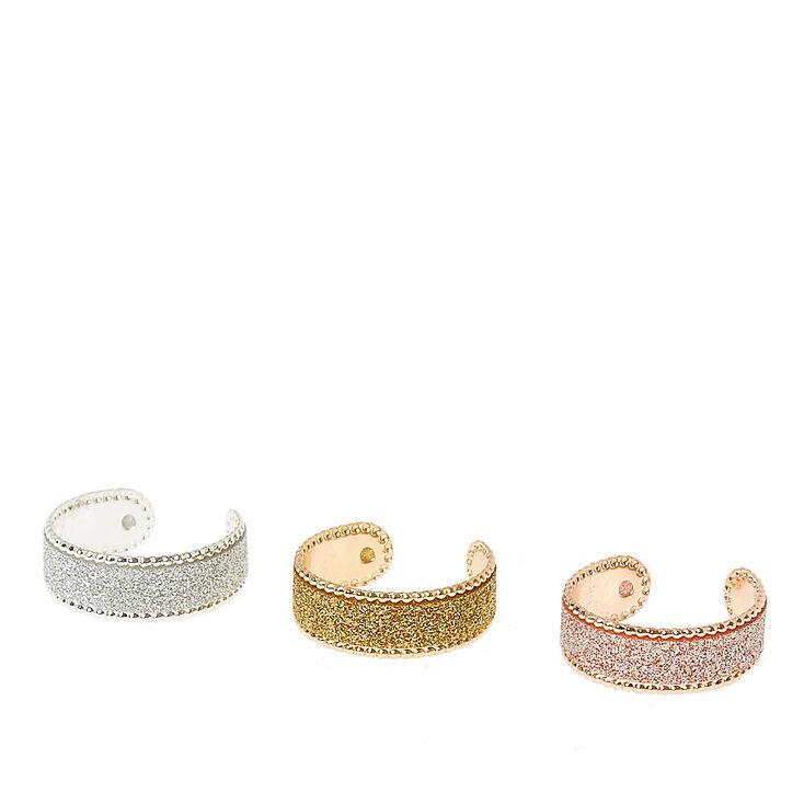 Glitter Tape Toe Rings,