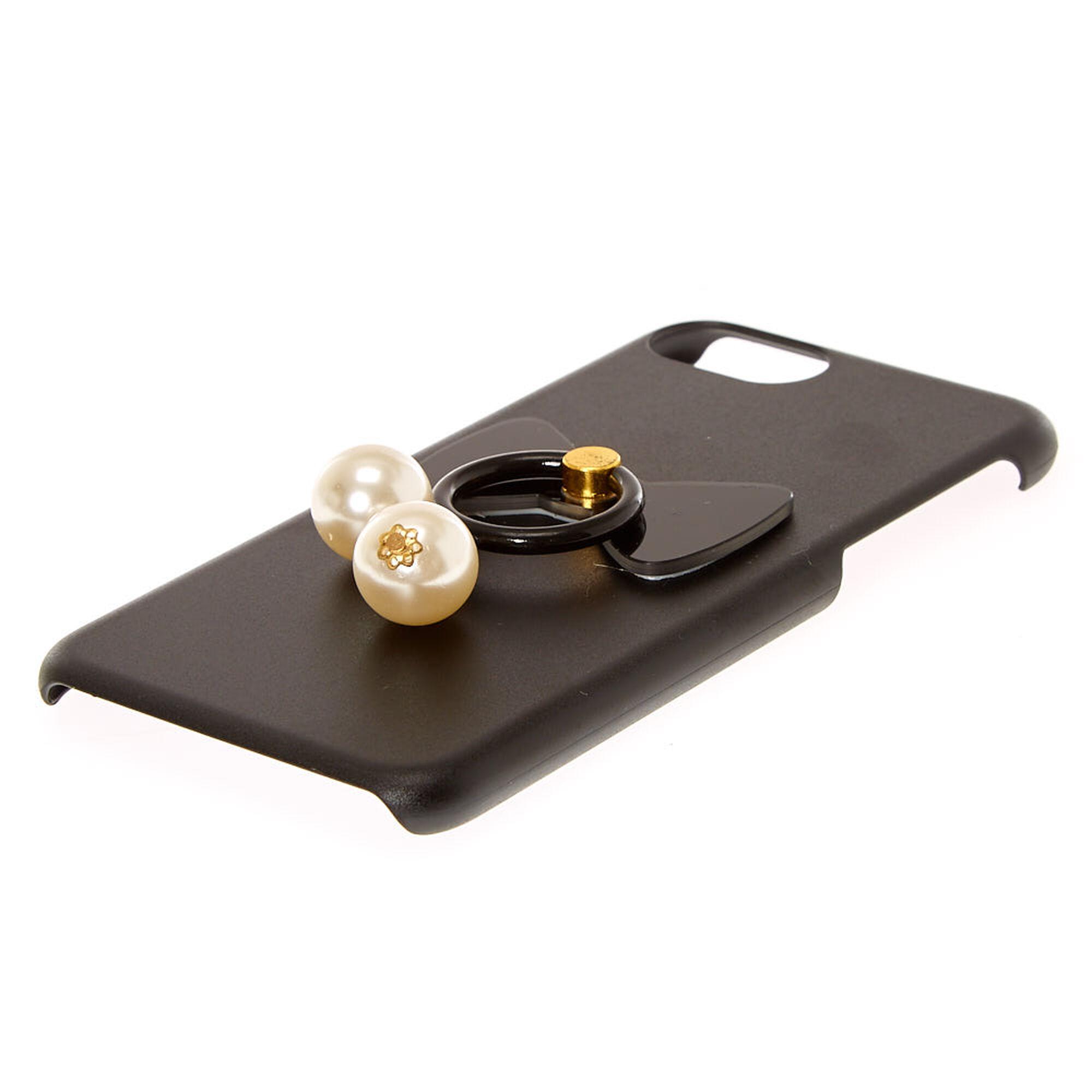 Coque de portable avec anneau de support et fausses perles - Porta piercing ...