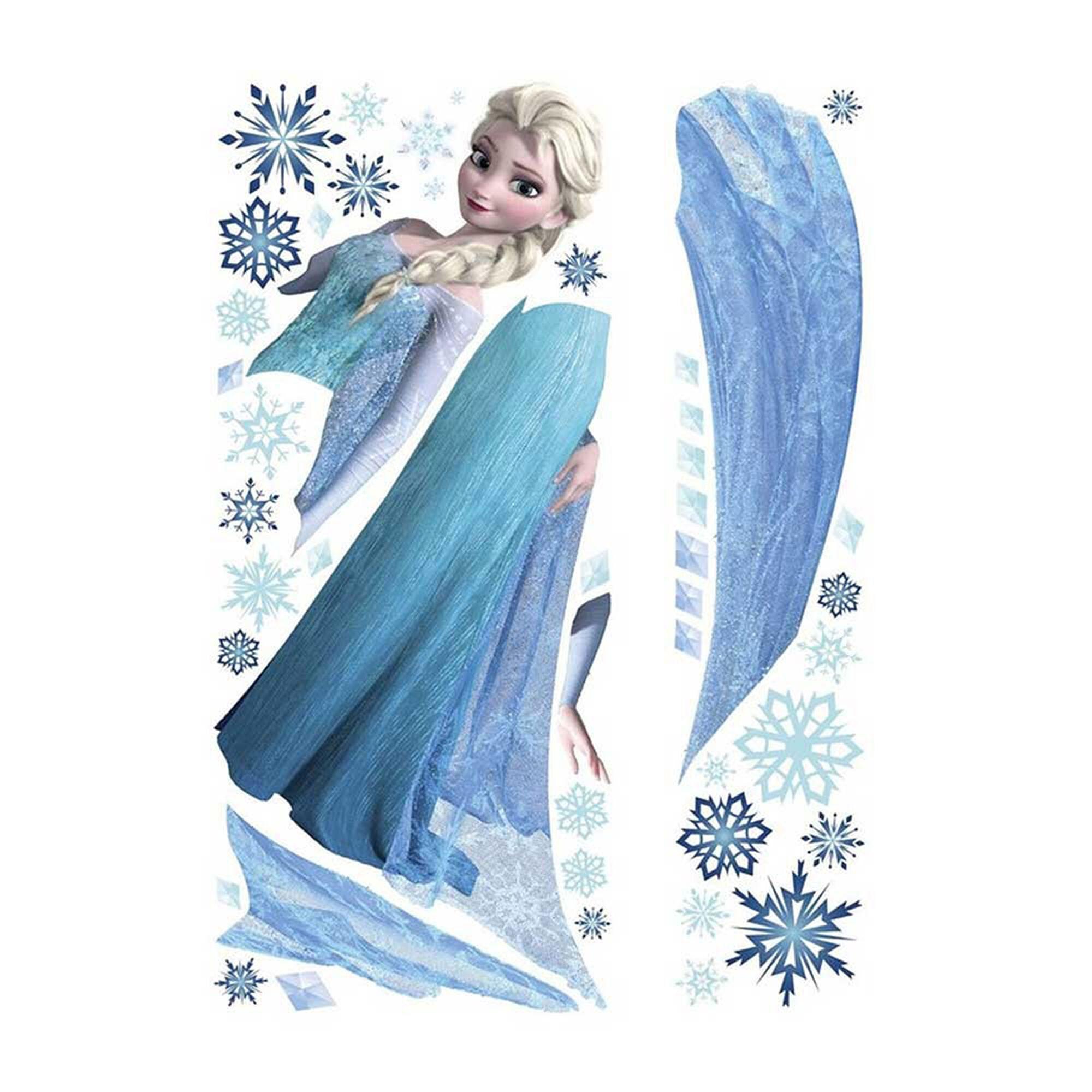 stickers muraux elsa de la reine des neiges claire 39 s fr. Black Bedroom Furniture Sets. Home Design Ideas