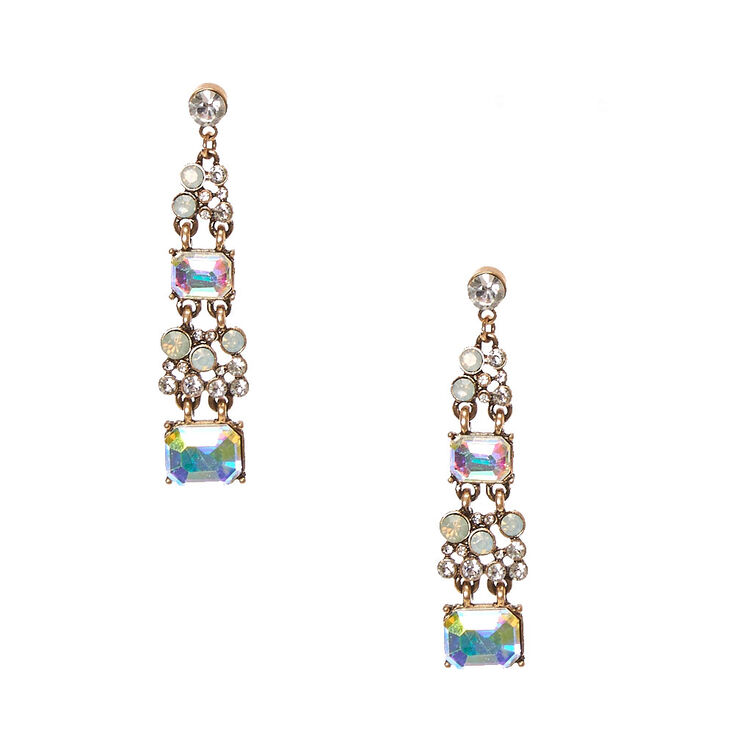 Antique Style Deco Drop Earrings,
