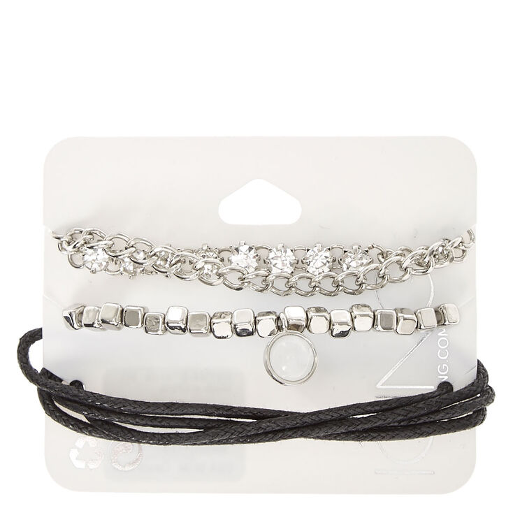 4 Piece Stretch Faux Crystal Bracelets,