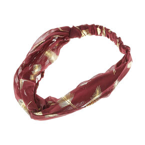 Burgundy and Gold Lead Headwrap,