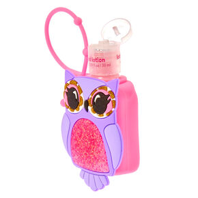 Olivia the Owl Pink Holder with Blue Raspberry Scented Hand Lotion,