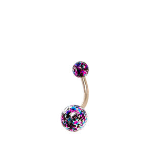 Rainbow Splatter Belly Bar,