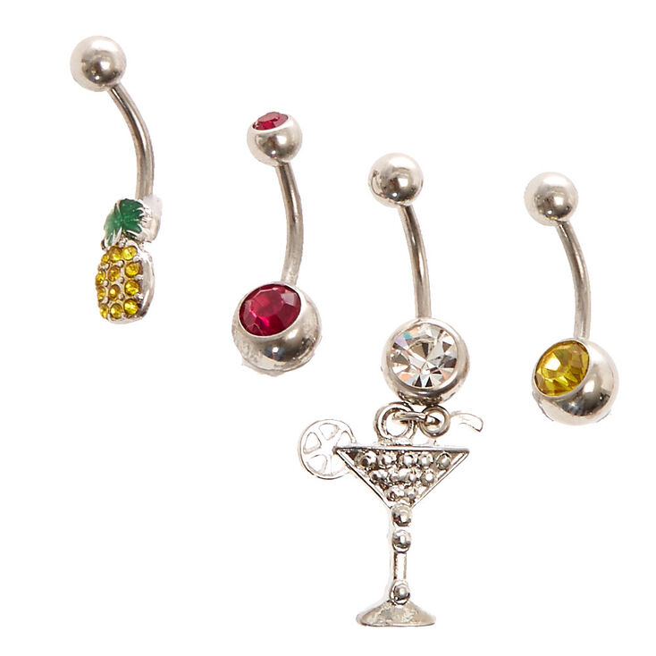 Drinks On Me Belly Button Rings,