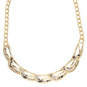 Snake Skin Statement Necklace,