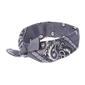 Gray Bandana 3 Way Headwrap,