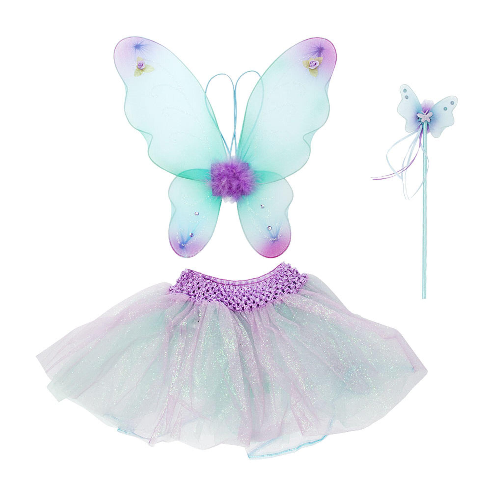 kids blue u0026 purple fairy dress up set claire u0027s
