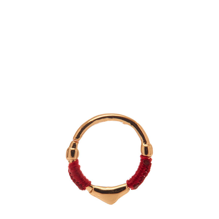 Red Wrapped Gold Hoop Cartilage Earring   Claire's US