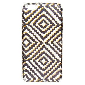 Black and Gold Diamond Design Phone Case,