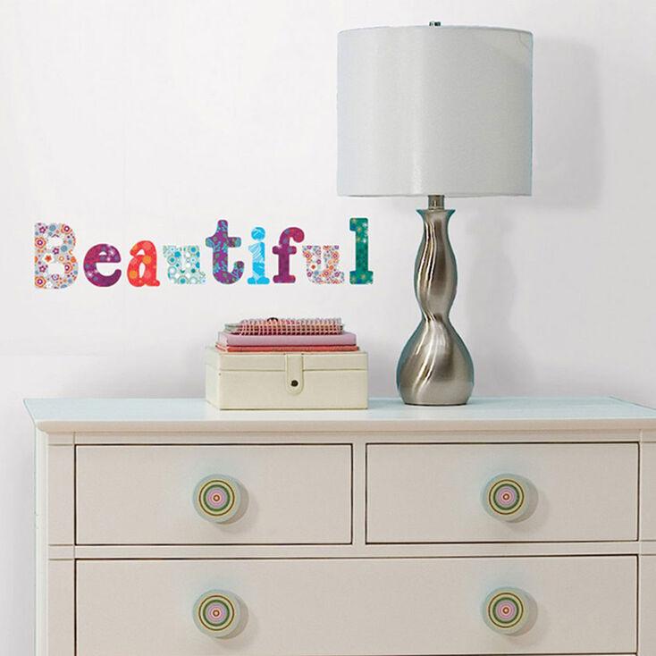 stickers muraux alphabet floral claire 39 s fr. Black Bedroom Furniture Sets. Home Design Ideas
