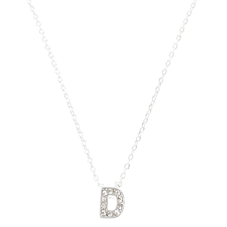 D Pendant Initial Necklace,