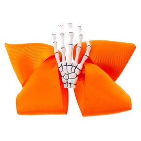 Skeleton Hand Hair Bow Clip,