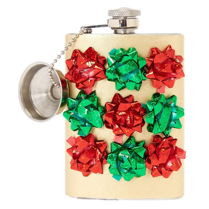 Confetti Gift Bow Flask,